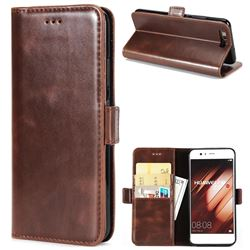 Luxury Crazy Horse PU Leather Wallet Case for Huawei P10 - Coffee