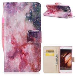 Cosmic Stars PU Leather Wallet Case for Huawei P10