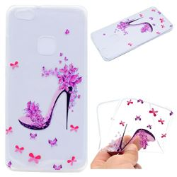 Petal High Heels Super Clear Soft TPU Back Cover for Huawei P10 Lite P10Lite