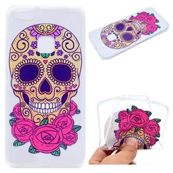 Skeleton Flower Super Clear Soft TPU Back Cover for Huawei P10 Lite P10Lite