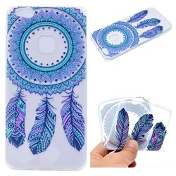 Blue Feather Campanula Super Clear Soft TPU Back Cover for Huawei P10 Lite P10Lite