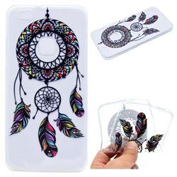 Feather Black Wind Chimes Super Clear Soft TPU Back Cover for Huawei P10 Lite P10Lite