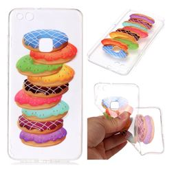 Melaleuca Donuts Super Clear Soft TPU Back Cover for Huawei P10 Lite P10Lite