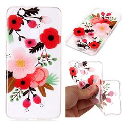 Painting Flowers Super Clear Soft TPU Back Cover for Huawei P10 Lite P10Lite