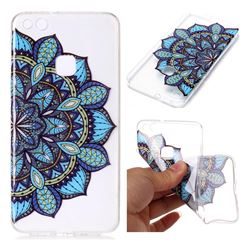Peacock flower Super Clear Soft TPU Back Cover for Huawei P10 Lite P10Lite