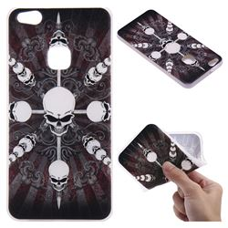 Compass Skulls 3D Relief Matte Soft TPU Back Cover for Huawei P10 Lite P10Lite