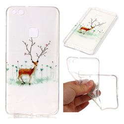 Branches Elk Super Clear Soft TPU Back Cover for Huawei P10 Lite P10Lite