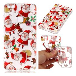 Santa Claus Super Clear Soft TPU Back Cover for Huawei P10 Lite P10Lite