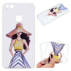 Summer Girl Super Clear Soft TPU Back Cover for Huawei P10 Lite P10Lite