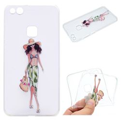 Bikini Girl Super Clear Soft TPU Back Cover for Huawei P10 Lite P10Lite