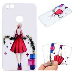 Christmas Girl Super Clear Soft TPU Back Cover for Huawei P10 Lite P10Lite