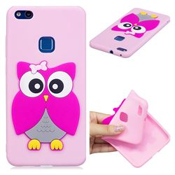 Pink Owl Soft 3D Silicone Case for Huawei P10 Lite P10Lite