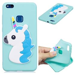 Blue Hair Unicorn Soft 3D Silicone Case for Huawei P10 Lite P10Lite