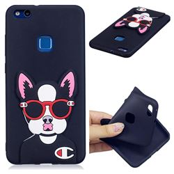 Glasses Gog Soft 3D Silicone Case for Huawei P10 Lite P10Lite