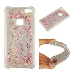 Dynamic Liquid Glitter Sand Quicksand Star TPU Case for Huawei P10 Lite P10Lite - Rose