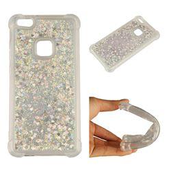 Dynamic Liquid Glitter Sand Quicksand Star TPU Case for Huawei P10 Lite P10Lite - Silver