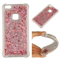 Dynamic Liquid Glitter Sand Quicksand Star TPU Case for Huawei P10 Lite P10Lite - Diamond Rose