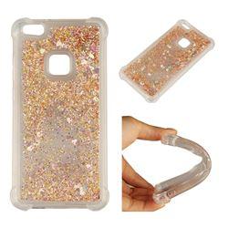 Dynamic Liquid Glitter Sand Quicksand Star TPU Case for Huawei P10 Lite P10Lite - Diamond Gold