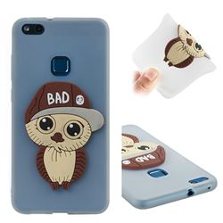 Bad Boy Owl Soft 3D Silicone Case for Huawei P10 Lite P10Lite - Translucent White