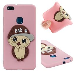Bad Boy Owl Soft 3D Silicone Case for Huawei P10 Lite P10Lite - Pink