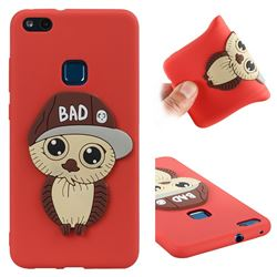 Bad Boy Owl Soft 3D Silicone Case for Huawei P10 Lite P10Lite - Red
