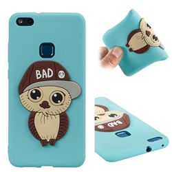 Bad Boy Owl Soft 3D Silicone Case for Huawei P10 Lite P10Lite - Sky Blue