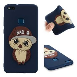 Bad Boy Owl Soft 3D Silicone Case for Huawei P10 Lite P10Lite - Navy