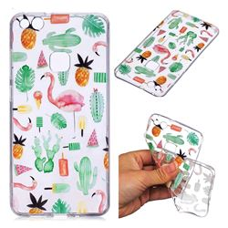Cactus Flamingos Super Clear Soft TPU Back Cover for Huawei P10 Lite P10Lite