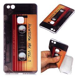 Retro Cassette Tape Super Clear Soft TPU Back Cover for Huawei P10 Lite P10Lite