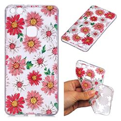 Chrysant Flower Super Clear Soft TPU Back Cover for Huawei P10 Lite P10Lite