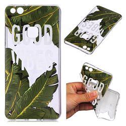 Good Vibes Banana Leaf Super Clear Soft TPU Back Cover for Huawei P10 Lite P10Lite