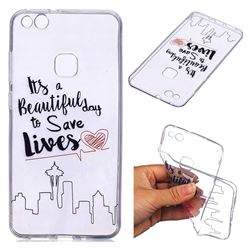 Line Castle Super Clear Soft TPU Back Cover for Huawei P10 Lite P10Lite