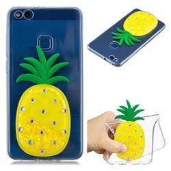 Yellow Pineapple Liquid Quicksand Soft 3D Cartoon Case for Huawei P10 Lite P10Lite