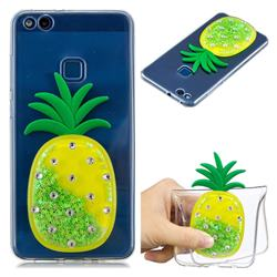Green Pineapple Liquid Quicksand Soft 3D Cartoon Case for Huawei P10 Lite P10Lite
