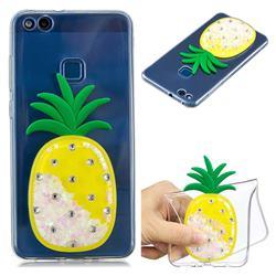 White Pineapple Liquid Quicksand Soft 3D Cartoon Case for Huawei P10 Lite P10Lite