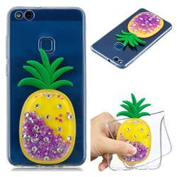 Purple Pineapple Liquid Quicksand Soft 3D Cartoon Case for Huawei P10 Lite P10Lite