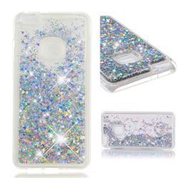 Dynamic Liquid Glitter Quicksand Sequins TPU Phone Case for Huawei P10 Lite P10Lite - Silver