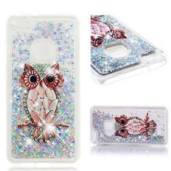 Seashell Owl Dynamic Liquid Glitter Quicksand Soft TPU Case for Huawei P10 Lite P10Lite