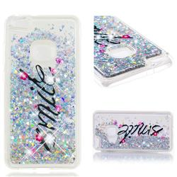 Smile Flower Dynamic Liquid Glitter Quicksand Soft TPU Case for Huawei P10 Lite P10Lite