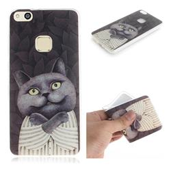 Cat Embrace IMD Soft TPU Cell Phone Back Cover for Huawei P10 Lite P10Lite
