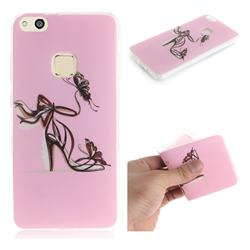 Butterfly High Heels IMD Soft TPU Cell Phone Back Cover for Huawei P10 Lite P10Lite