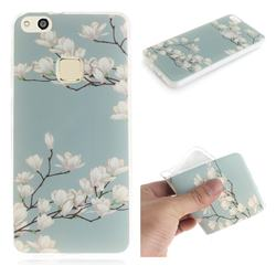 Magnolia Flower IMD Soft TPU Cell Phone Back Cover for Huawei P10 Lite P10Lite