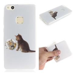 Cat and Tiger IMD Soft TPU Cell Phone Back Cover for Huawei P10 Lite P10Lite