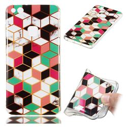 Three-dimensional Square Soft TPU Marble Pattern Phone Case for Huawei P10 Lite P10Lite