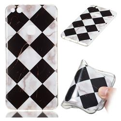 Black and White Matching Soft TPU Marble Pattern Phone Case for Huawei P10 Lite P10Lite