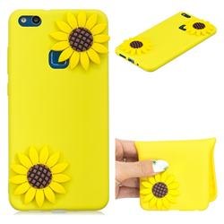 Yellow Sunflower Soft 3D Silicone Case for Huawei P10 Lite P10Lite