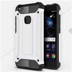 King Kong Armor Premium Shockproof Dual Layer Rugged Hard Cover for Huawei P10 Lite P10Lite - White