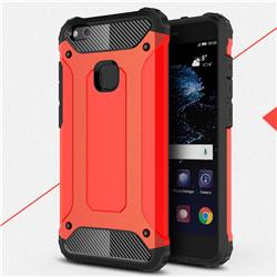 King Kong Armor Premium Shockproof Dual Layer Rugged Hard Cover for Huawei P10 Lite P10Lite - Big Red