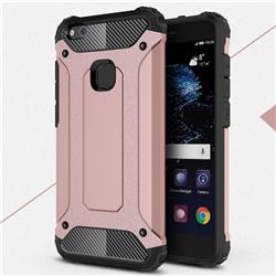 King Kong Armor Premium Shockproof Dual Layer Rugged Hard Cover for Huawei P10 Lite P10Lite - Rose Gold