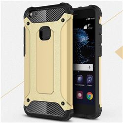 King Kong Armor Premium Shockproof Dual Layer Rugged Hard Cover for Huawei P10 Lite P10Lite - Champagne Gold